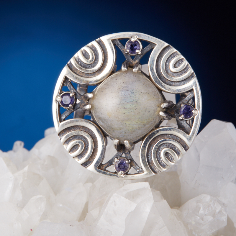 Кольцо лабрадор  (серебро 925 пр.) размер 17,5 кольцо авантюрин зеленый серебро 925 пр размер 17 5