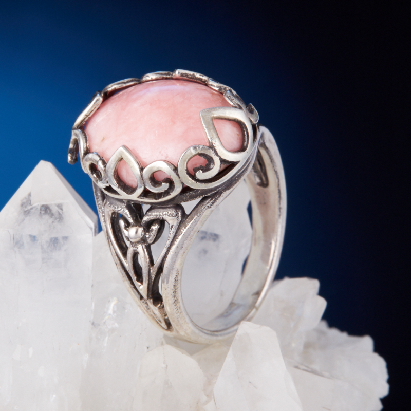 Кольцо родохрозит  (серебро 925 пр.) размер 17,5 кольцо авантюрин зеленый серебро 925 пр размер 17 5
