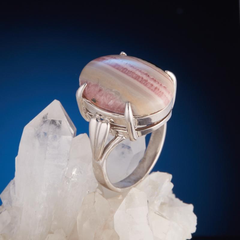 Кольцо родохрозит  (серебро 925 пр.) размер 18,5 родохрозит 1 1 5 см 1 шт