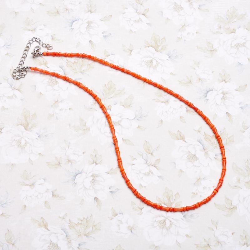Бусы коралл оранжевый 46-53 см авторские бусы кахолонг прес коралл хрусталь лима