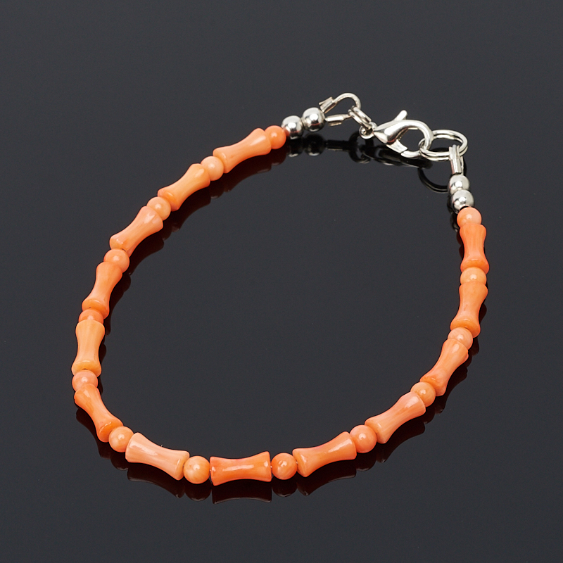 Браслет коралл оранжевый 16 см artevaluce ваза ria цвет оранжевый 14х14х50 см 2 шт