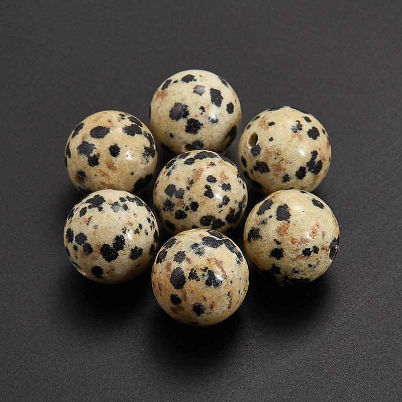 Бусина яшма далматиновая  шарик 12,5 мм (1 шт) бусина лабрадор шарик 6 6 5 мм 1 шт