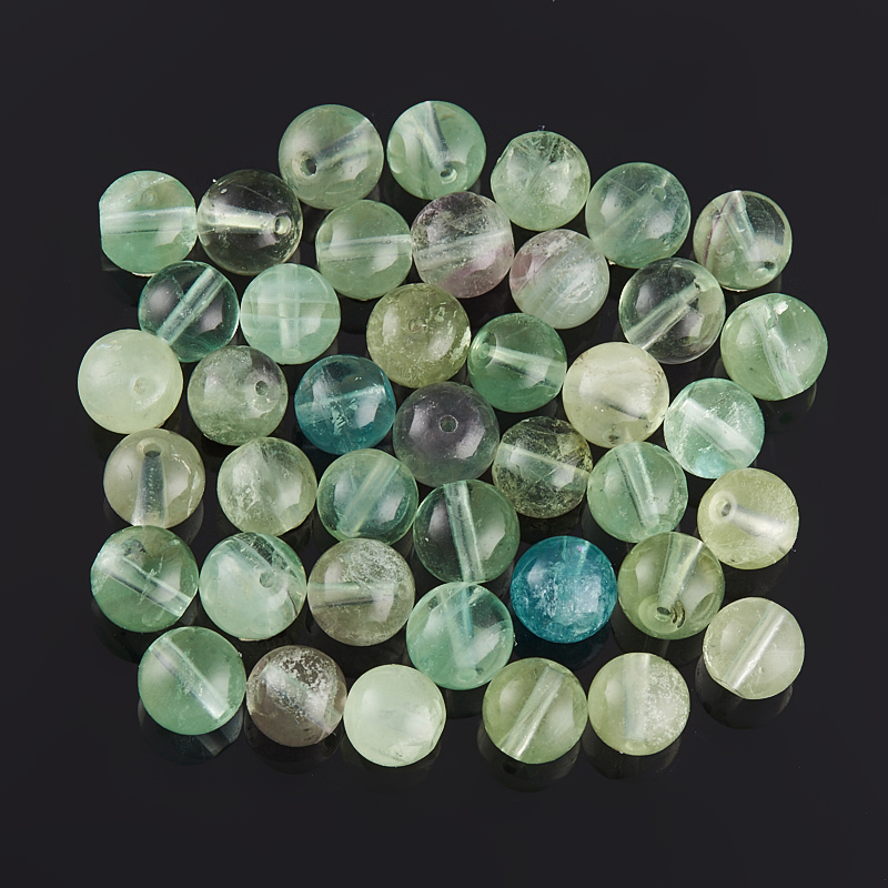 Бусина флюорит зеленый шарик 4,5-5 мм (1 шт) бусина авантюрин зеленый сплюснутый шар 6 6 5 мм 1 шт