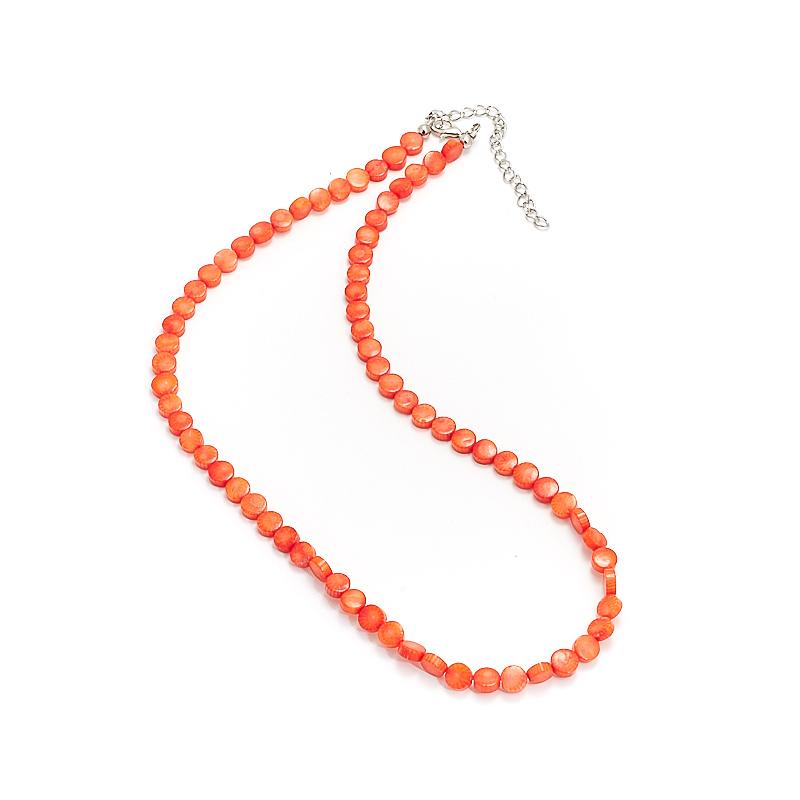 Бусы коралл оранжевый  6 мм 49-56 см набор столовых приборов apollo gold 24шт нерж сталь