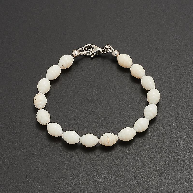 Браслет коралл белый  16 см браслеты indira браслет бирюза коралл gl0143