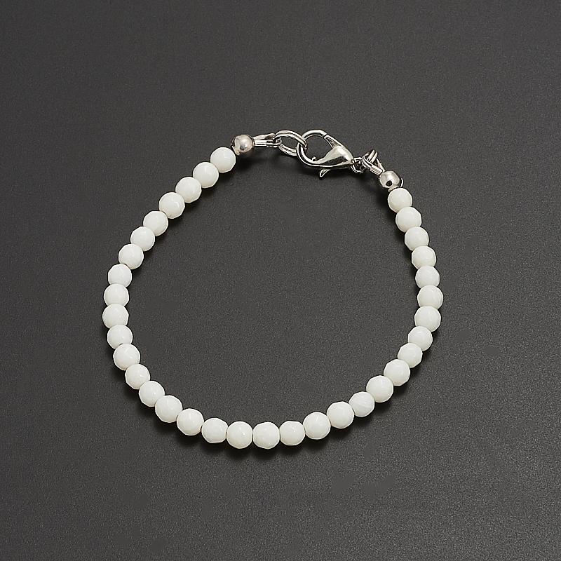 Браслет коралл белый  огранка 4 мм 18 см браслеты indira браслет бирюза коралл gl0143