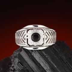 Кольцо раухтопаз Бразилия огранка (серебро 925 пр.) размер 20