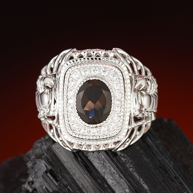 Кольцо раухтопаз  огранка (серебро 925 пр.) размер 20 кольцо лазурит серебро 925 пр размер 20