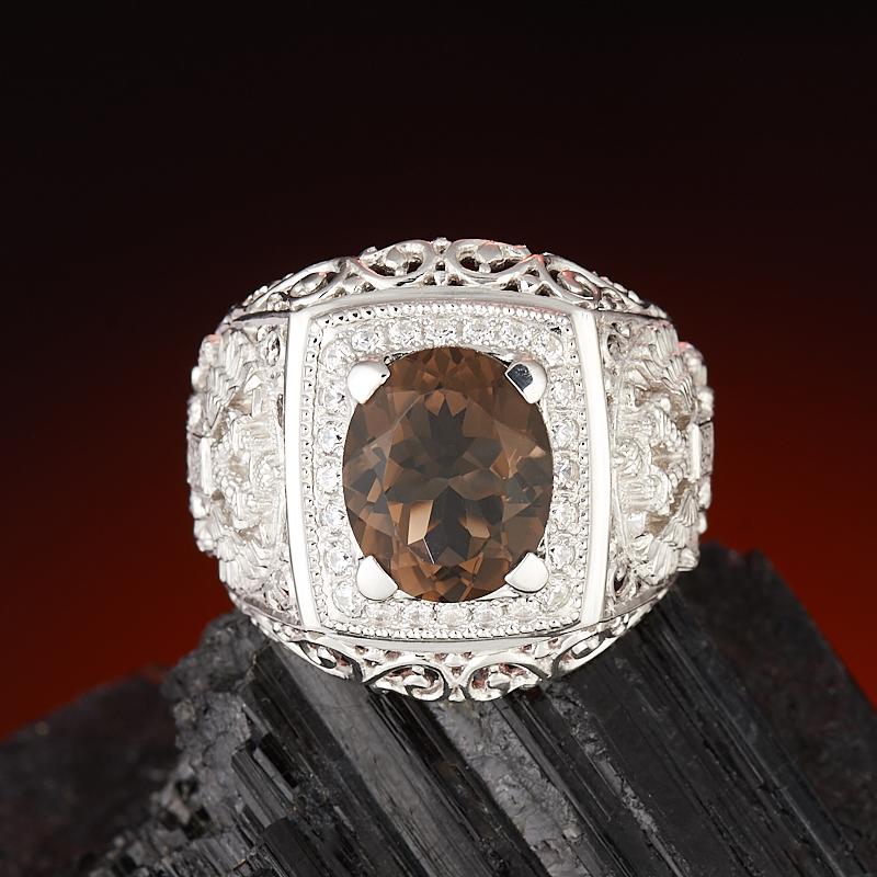Кольцо раухтопаз  огранка (серебро 925 пр.) размер 21,5 кольцо авантюрин серебро 925 пр размер 21 5