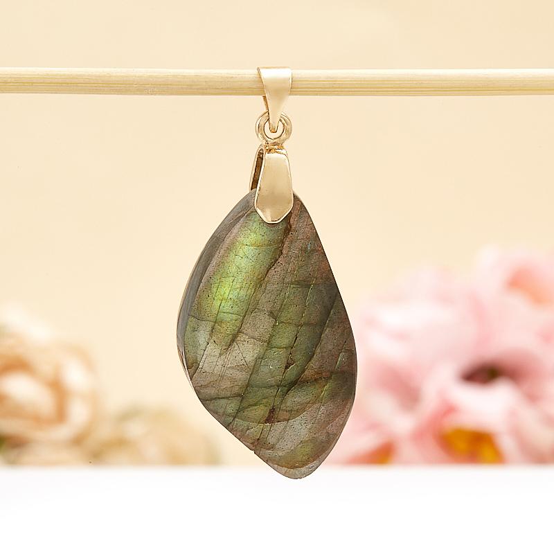 Кулон лист лабрадор  4 см
