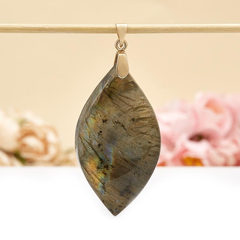 Кулон лист лабрадор  5,5 см