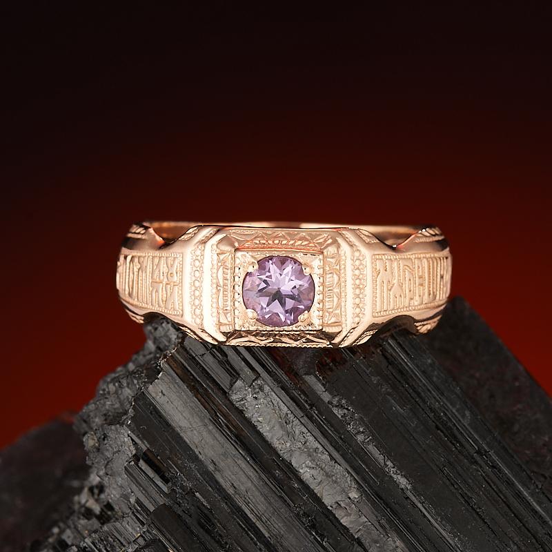 Кольцо аметист  огранка (серебро 925 пр., позолота) размер 19,5