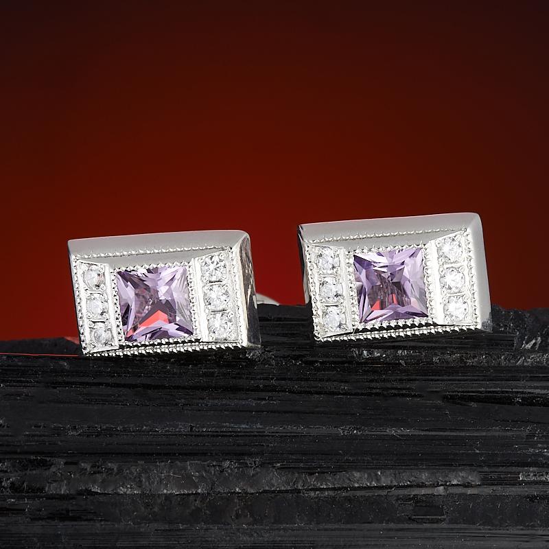 Запонки аметист огранка (серебро 925 пр.) запонки серебро россии 141025r 57603