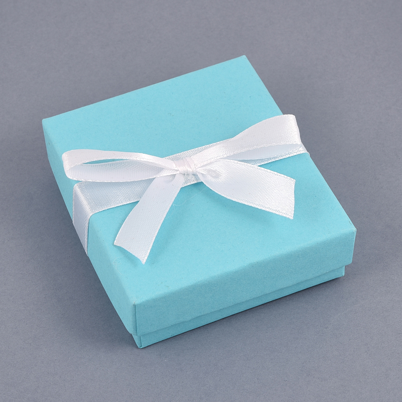 Подарочная упаковка под комплект (серьги, кулон, кольцо, цепь) 80х70х25 мм
