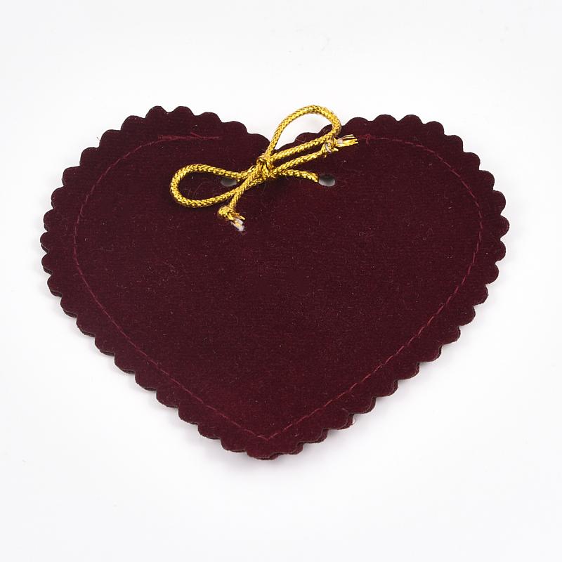 Подарочная упаковка универсальная (мешочек плоский темно бордовый) 90х85 мм