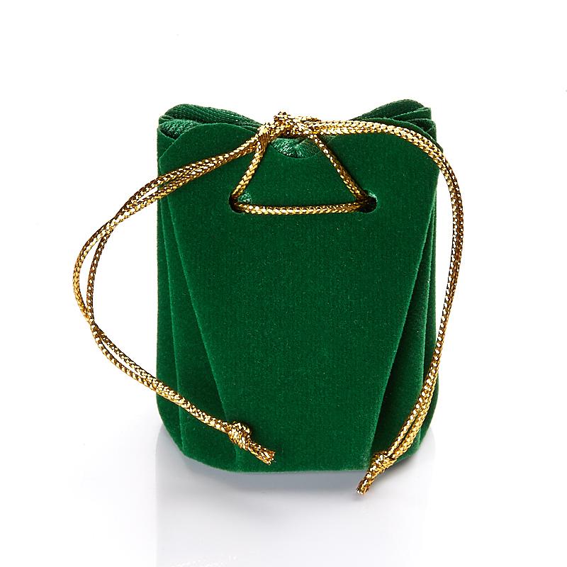 Подарочная упаковка универсальная (мешочек объемный зеленый) 40х40х60 мм
