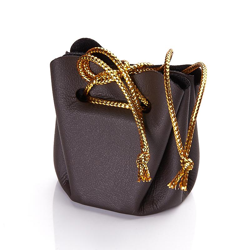 Подарочная упаковка универсальная (мешочек объемный шоколадный) 35х35х40 мм