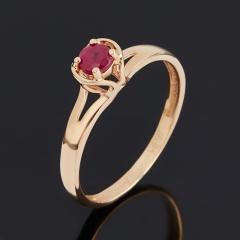 Кольцо рубин Мьянма огранка (золото 585 пр.) размер 16,5