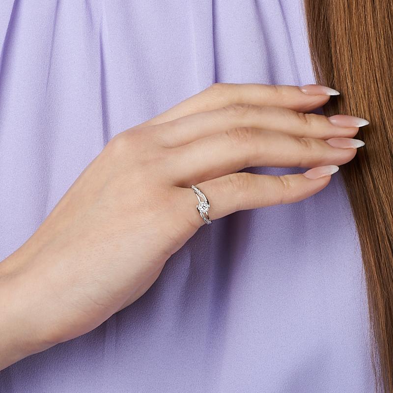 Кольцо бриллиант Индия огранка (золото 585 пр.) размер 14