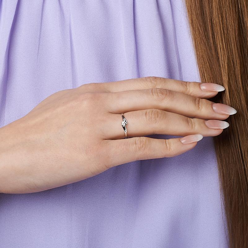 Кольцо бриллиант Индия огранка (золото 585 пр.) размер 22,5