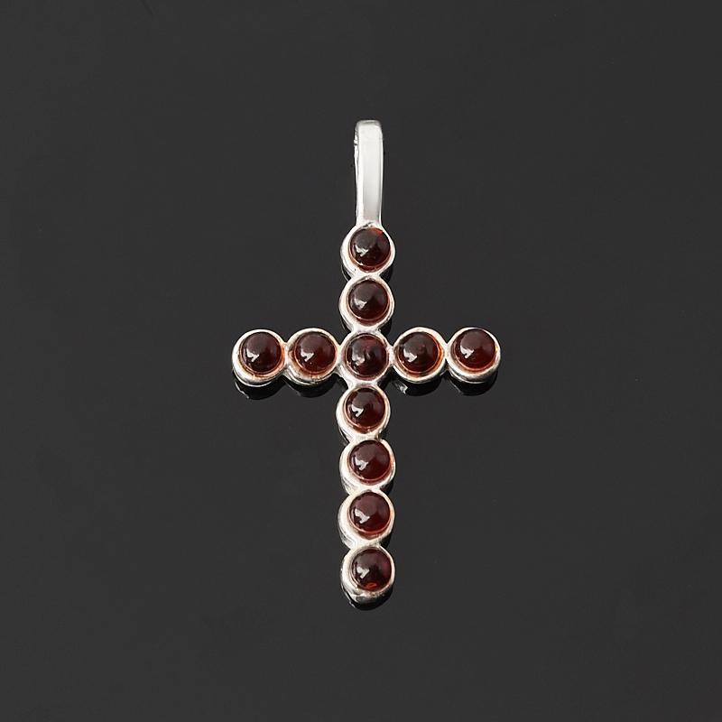 цена на Кулон янтарь крест (латунь посеребр.) 3,5 см