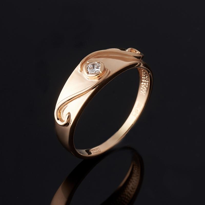 Кольцо бриллиант Индия огранка (золото 585 пр.) размер 15,5