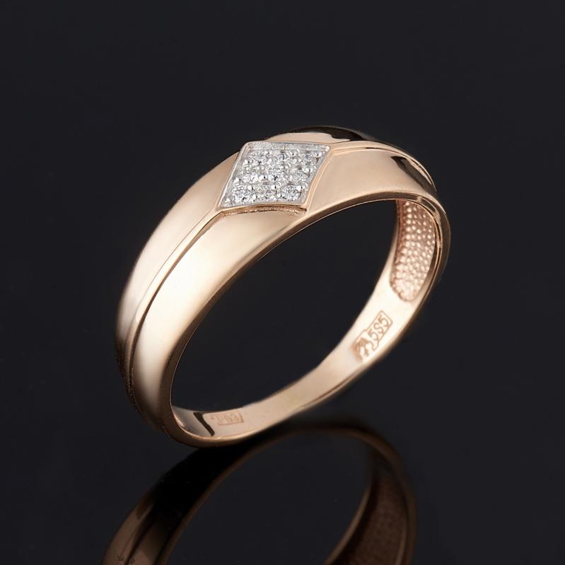 Кольцо бриллиант Индия огранка (золото 585 пр.) размер 16,5