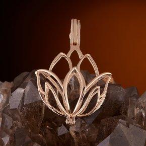 Кулон (без камня) цветок (золото 585 пр.)