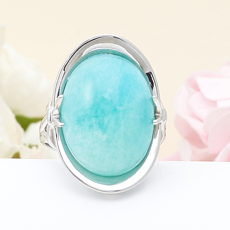 Кольцо амазонит  (серебро 925 пр.) размер 18,5 кольцо авантюрин зеленый серебро 925 пр размер 18