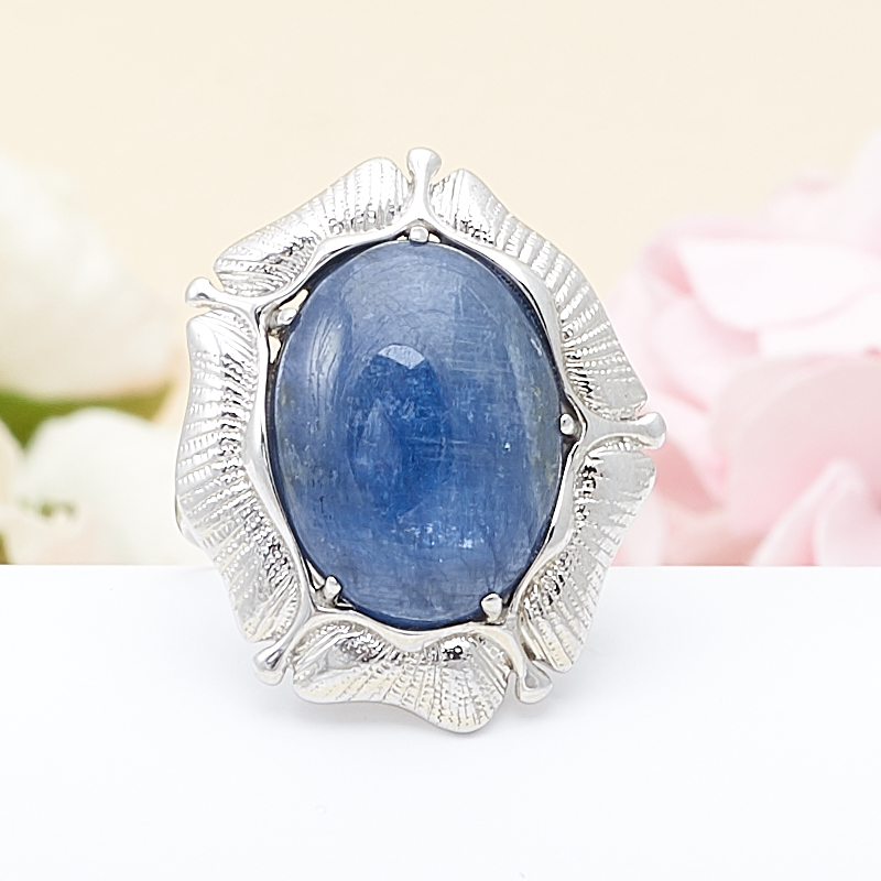 Кольцо кианит синий  (серебро 925 пр.) размер 17,5 кольцо персиянка кианит