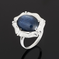 Кольцо кианит синий Бразилия (серебро 925 пр.) размер 18