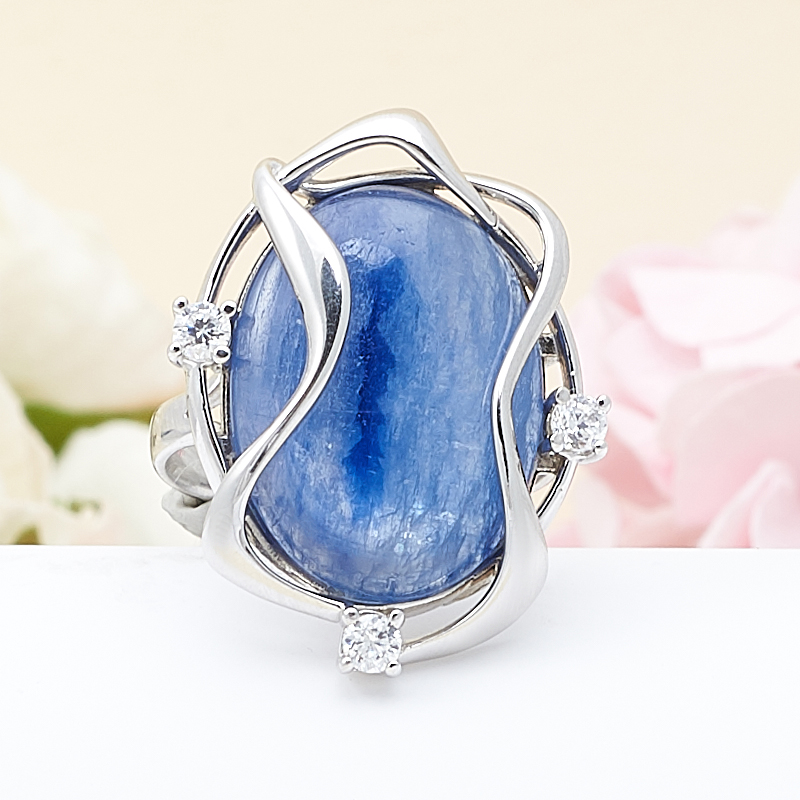 Кольцо кианит синий  (серебро 925 пр.) размер 18 кольцо персиянка кианит