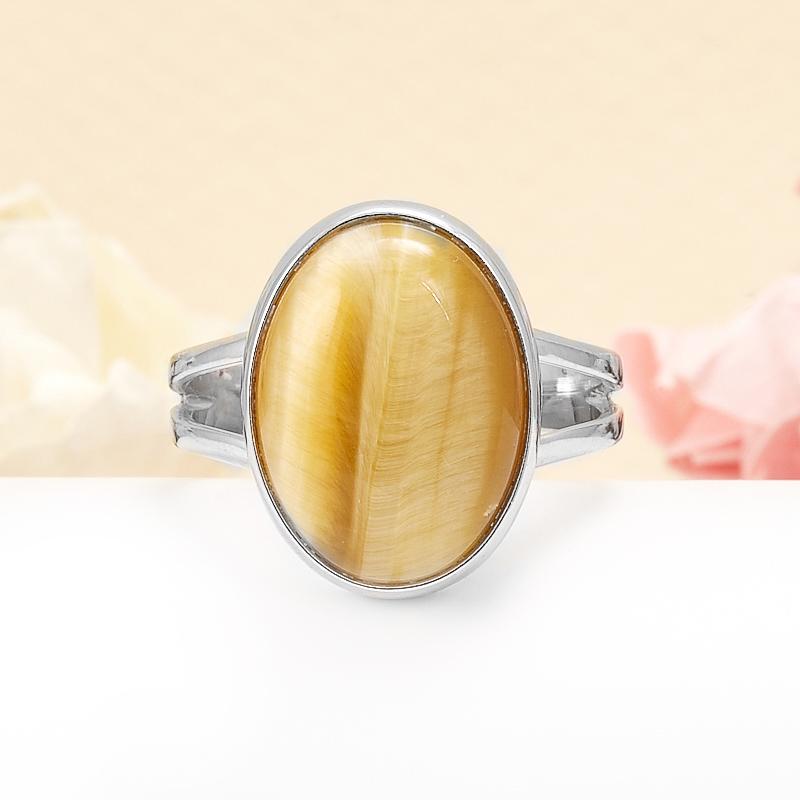 Кольцо тигровый глаз  (серебро 925 пр.) размер 18 кольцо сальвия тигровый глаз