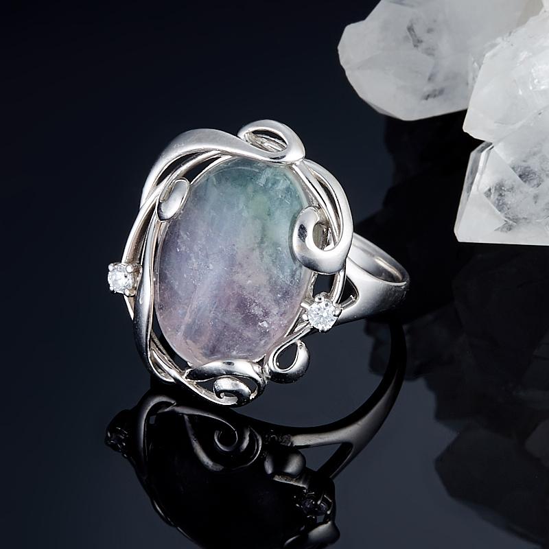 Кольцо флюорит (серебро 925 пр.) размер 19 кольцо авантюрин зеленый серебро 925 пр размер 18