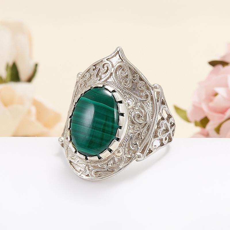 Кольцо малахит  (серебро 925 пр.) размер 17,5 кольцо авантюрин зеленый серебро 925 пр размер 17 5