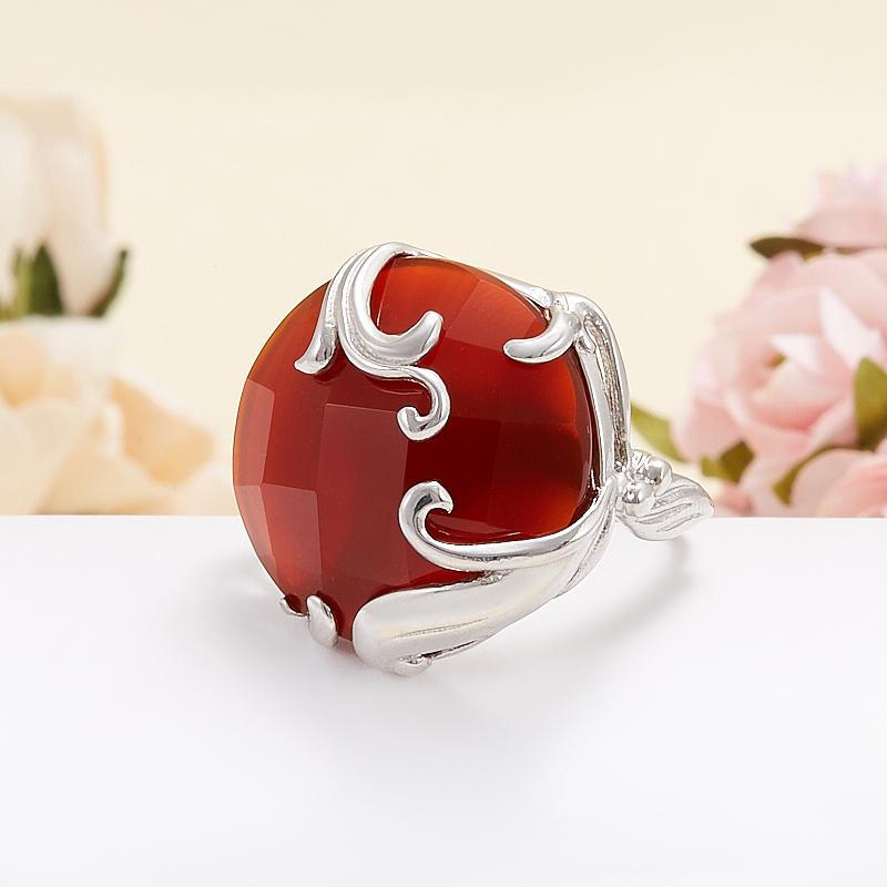Кольцо сердолик  огранка (серебро 925 пр.) размер 16,5 кольцо сердолик серебро 925 пр размер 19 5