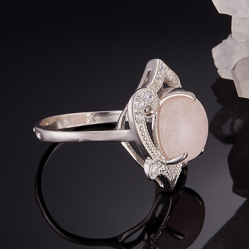 Кольцо берилл розовый (морганит) Бразилия (серебро 925 пр.) размер 15,5
