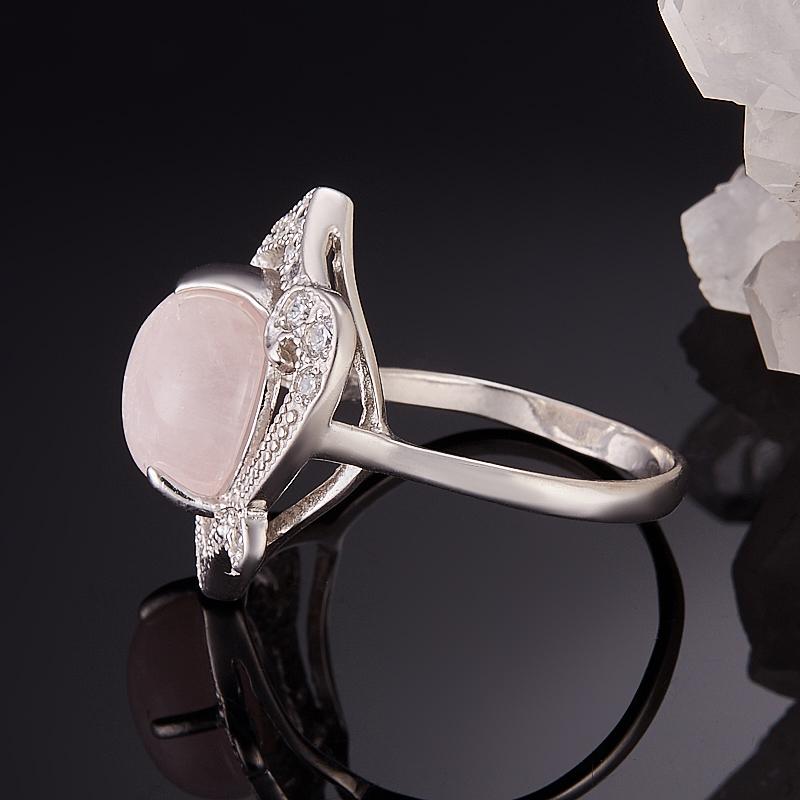 Кольцо берилл розовый (морганит) Бразилия (серебро 925 пр.) размер 19,5