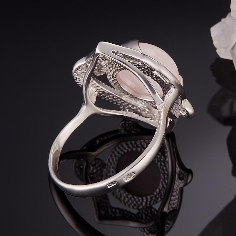 Кольцо берилл розовый (морганит) Бразилия (серебро 925 пр.) размер 21,5