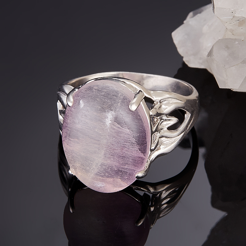 Кольцо флюорит (серебро 925 пр.) размер 17,5 кольцо малахит серебро 925 пр размер 17 5