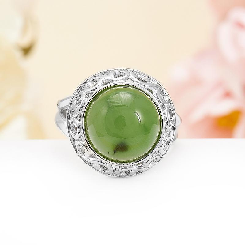 Кольцо нефрит зеленый  (серебро 925 пр.) размер 18,5 кольцо авантюрин зеленый серебро 925 пр размер 21 5