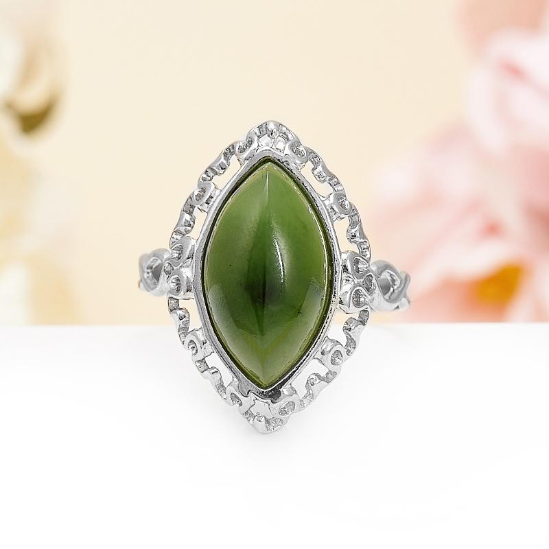 Кольцо нефрит зеленый  (серебро 925 пр.) размер 17,5 кольцо авантюрин зеленый серебро 925 пр размер 18