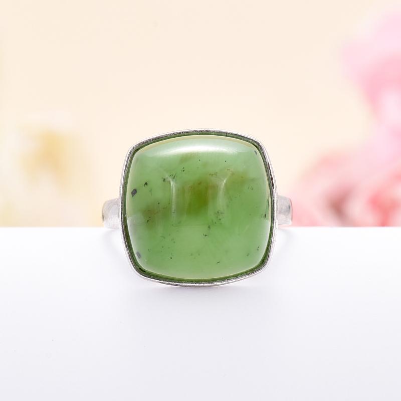 Кольцо нефрит зеленый (серебро 925 пр.) размер 18 браслет нефрит зеленый 18 см серебро 925 пр