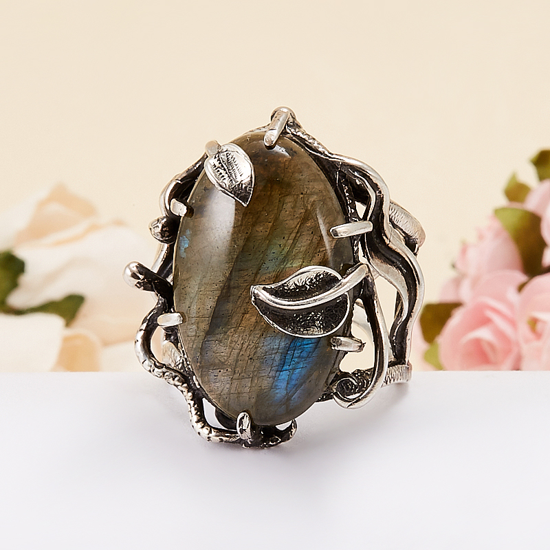 Кольцо лабрадор  (серебро 925 пр.) размер 18,5