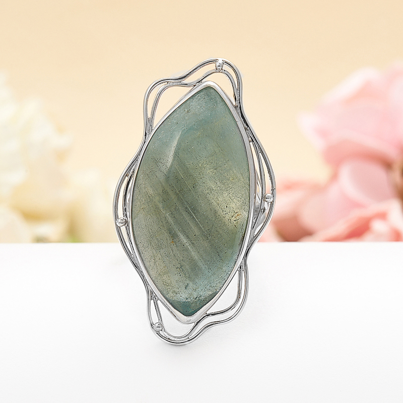 Кольцо аквамарин  (серебро 925 пр.) размер регулируемый кольцо фуксит серебро 925 пр регулируемый размер