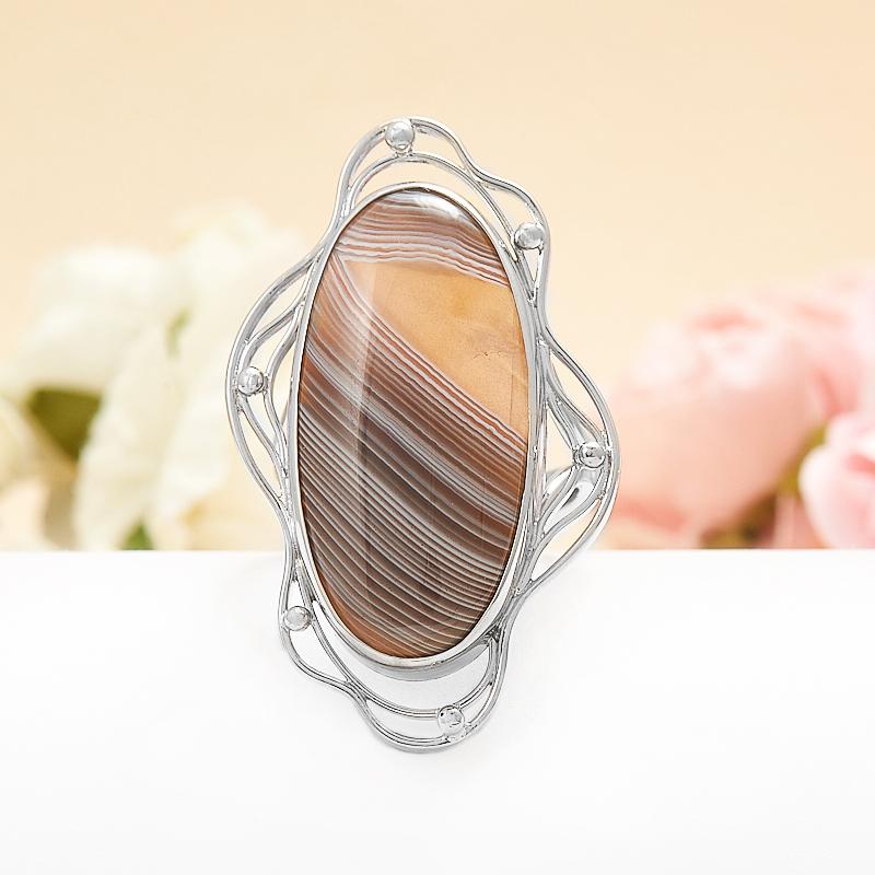 Кольцо агат серый  (серебро 925 пр.) размер регулируемый кольцо фуксит серебро 925 пр регулируемый размер