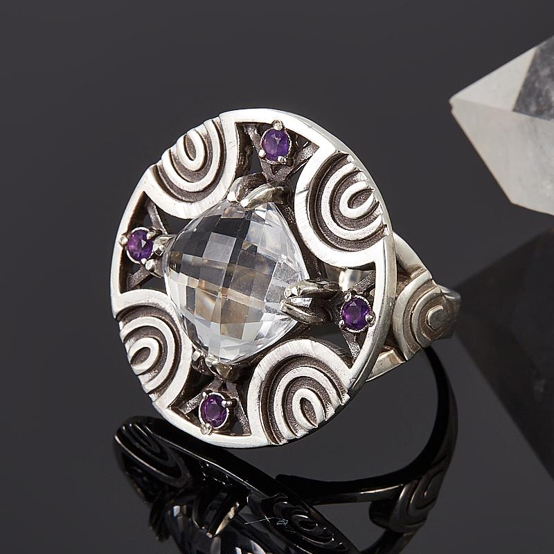 Кольцо горный хрусталь  огранка (серебро 925 пр.) размер 18 кольцо авантюрин зеленый серебро 925 пр размер 18