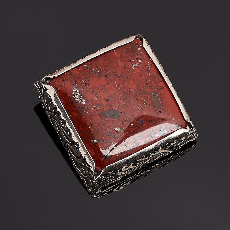 Брошь яшма уральская (серебро 925 пр.)