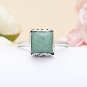 Кольцо авантюрин зеленый Индия (серебро 925 пр.) размер 17