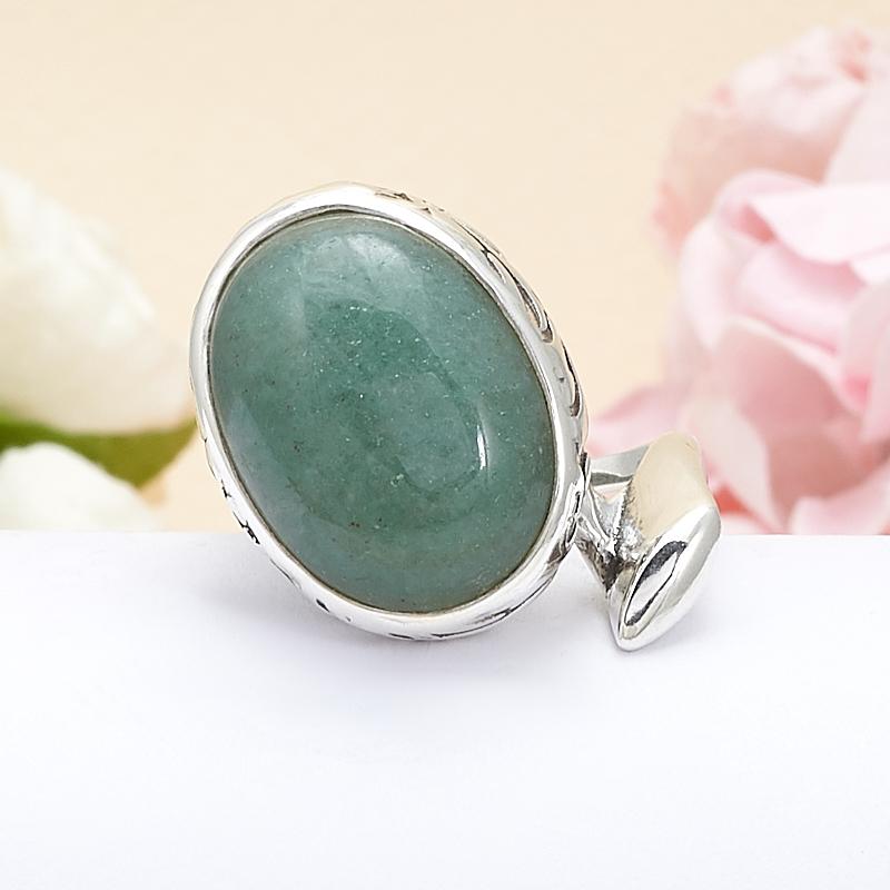 Кольцо авантюрин зеленый  (серебро 925 пр.) размер 18 кольцо капель авантюрин